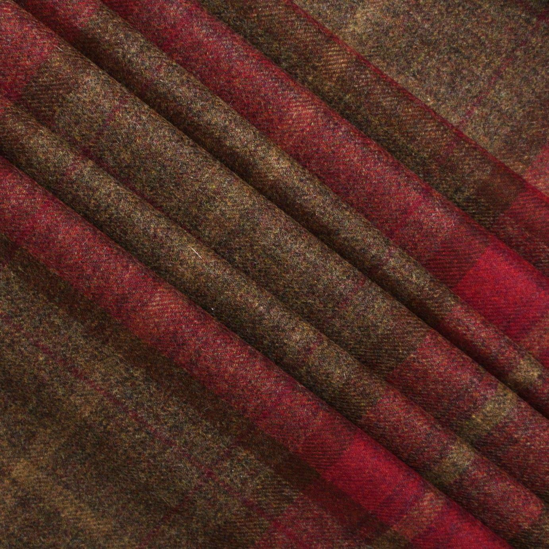 100 Pure Scotish Upholstery Wool Woven Tartan Check