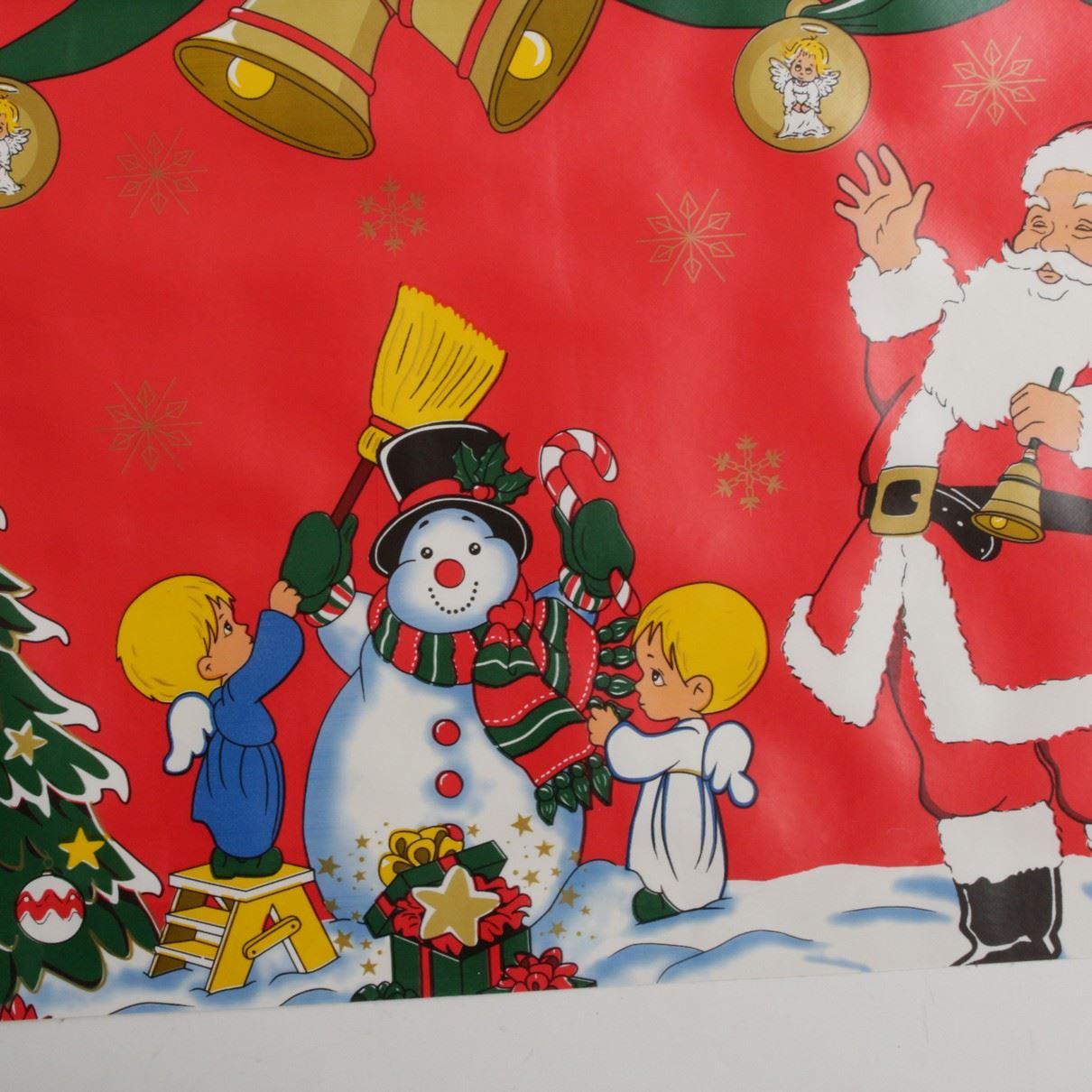 thumbnail 32 - CHRISTMAS PVC OILCLOTH VINYL FABRIC XMAS KITCHEN TABLE WIPECLEAN TABLECLOTHS