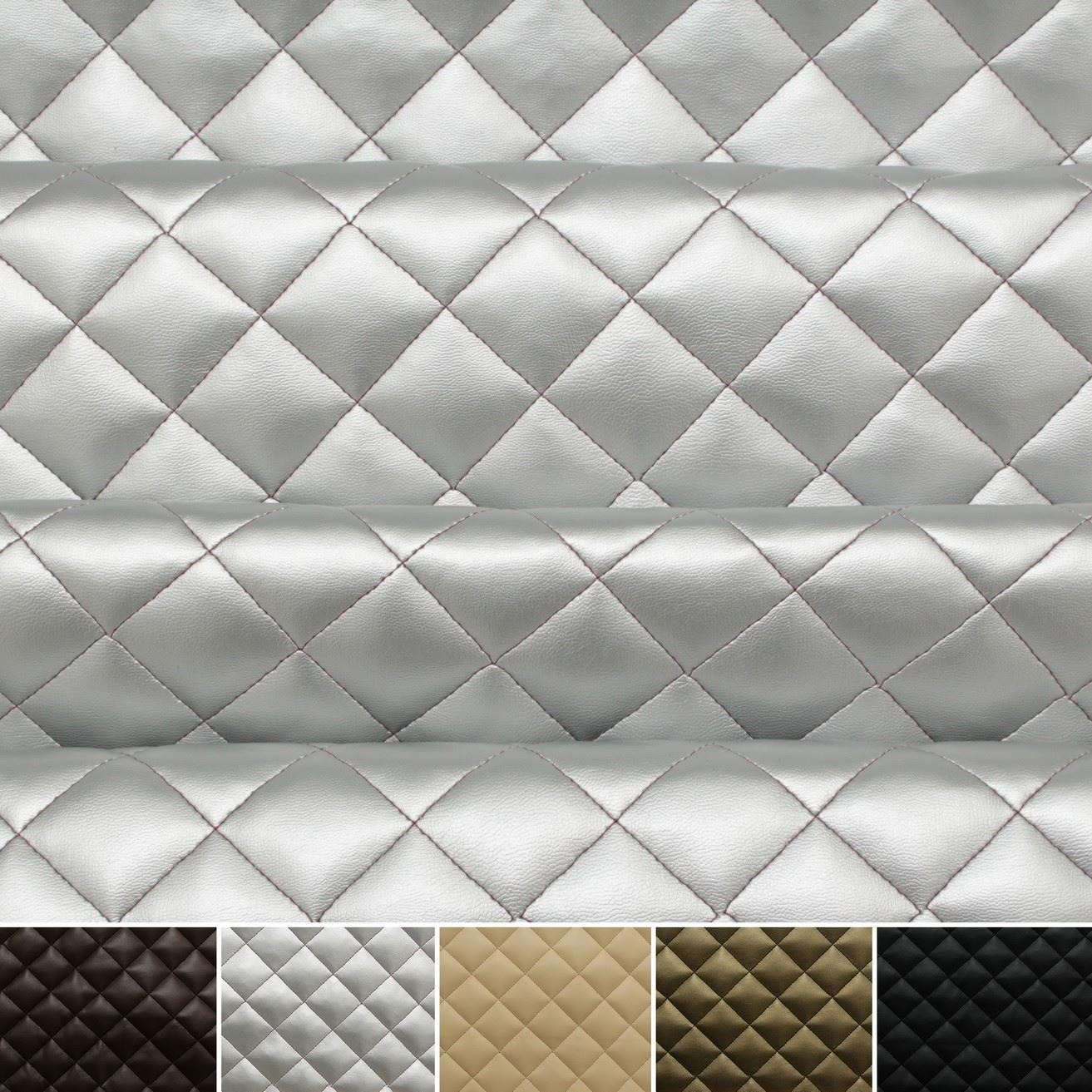 Quilted Leather Faux Leather Diamond Padded Cushion
