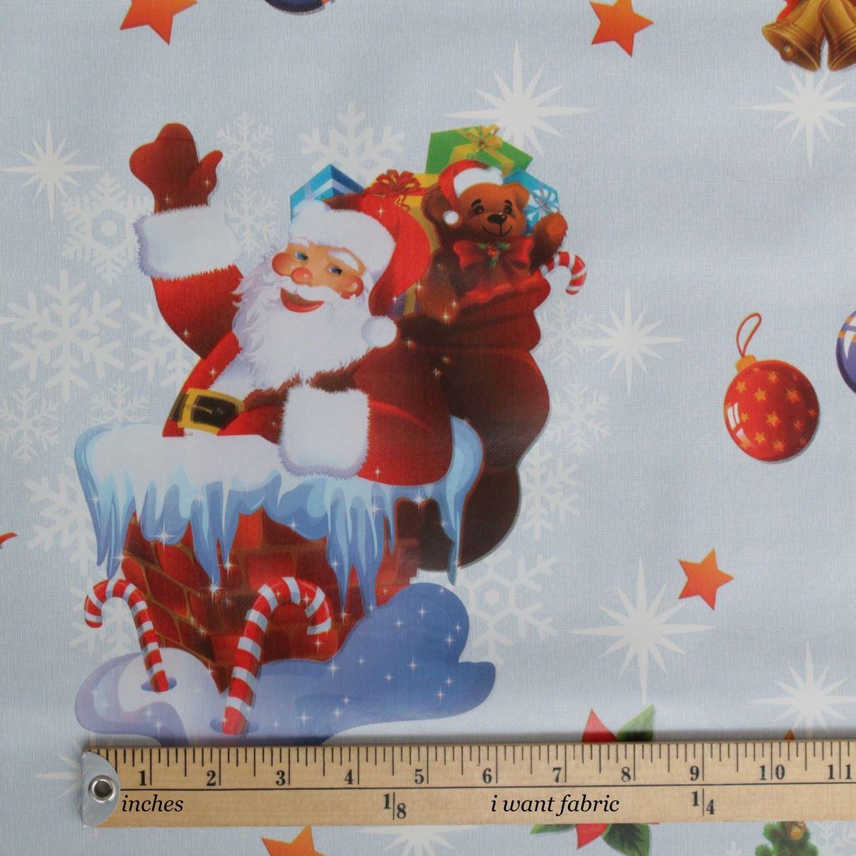 thumbnail 28 - CHRISTMAS PVC OILCLOTH VINYL FABRIC XMAS KITCHEN TABLE WIPECLEAN TABLECLOTHS