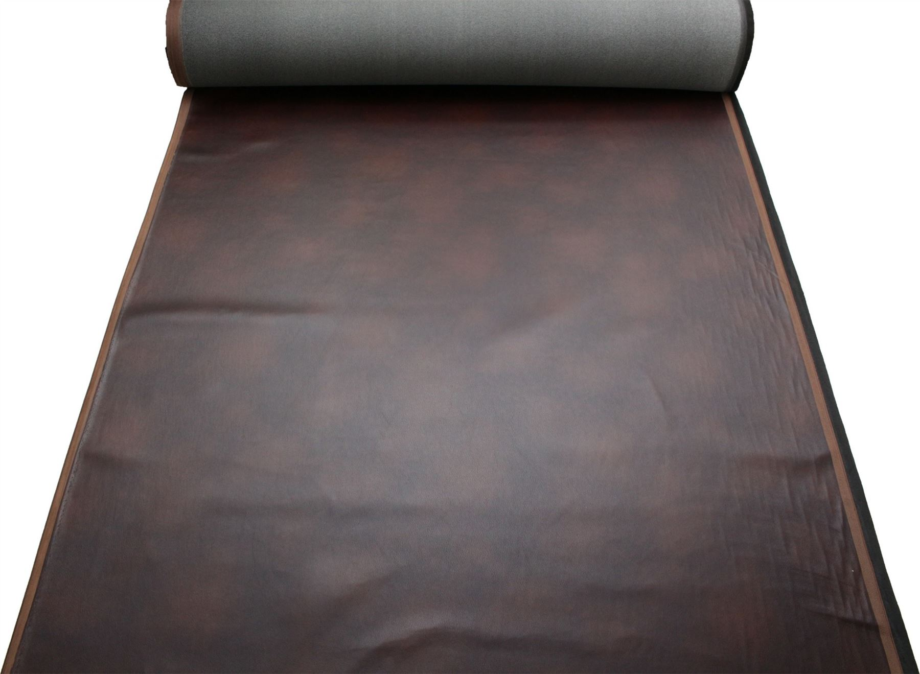 DISTRESSED ANTIQUE AGED BROWN FIRE RETARDANT FAUX LEATHER ...