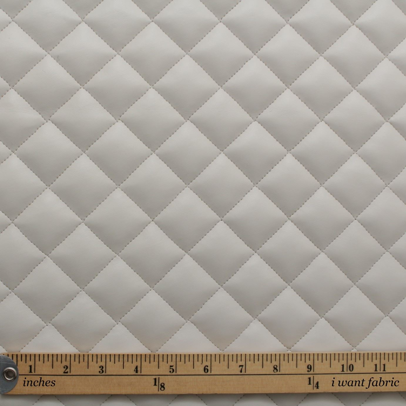 thumbnail 42 - Quilted leather Diamond Padded Cushion Faux Leather Interior Upholstery Fabric