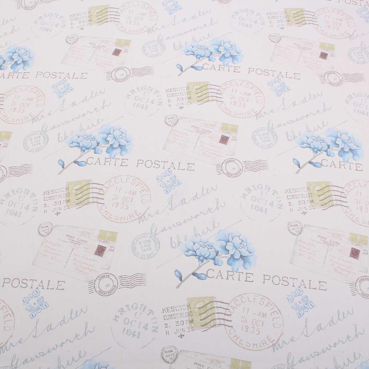 Timbri Personalizzati Per Stoffa dettagli su 12.8m – postale lettera timbri floreale tenda tendina cuscino  tessuto da