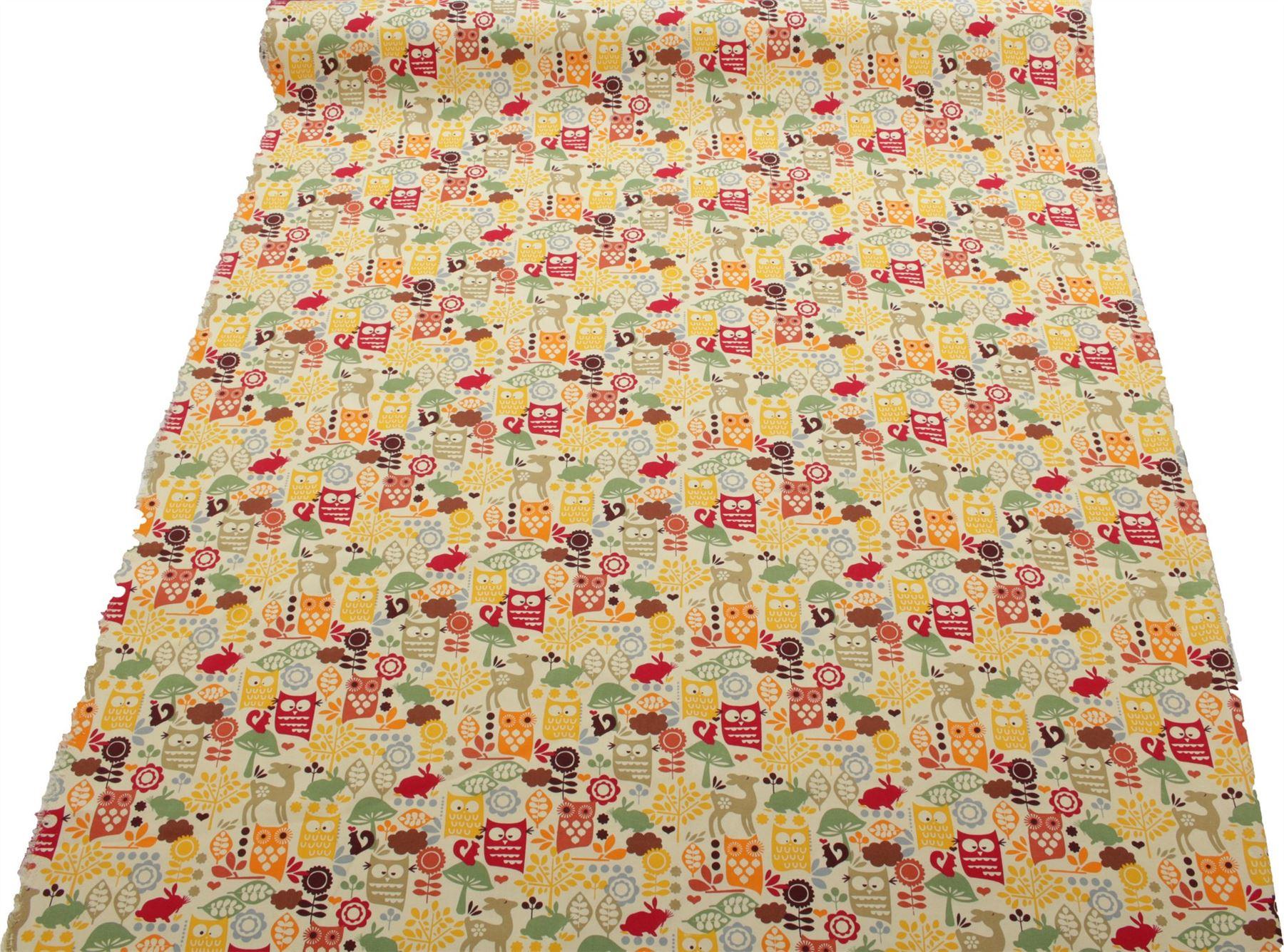 thumbnail 61 - 100% Heavy Cotton Panama Printed Childrens Curtain Cushion Upholstery Fabric