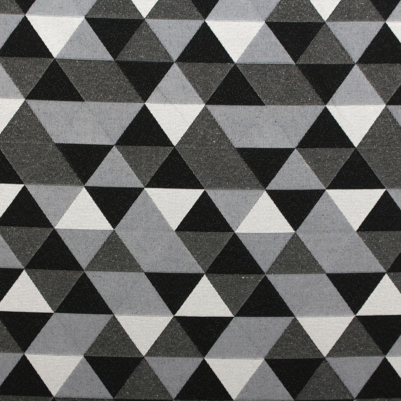 Double Sided Black Amp White Jacquard Geometric Animals