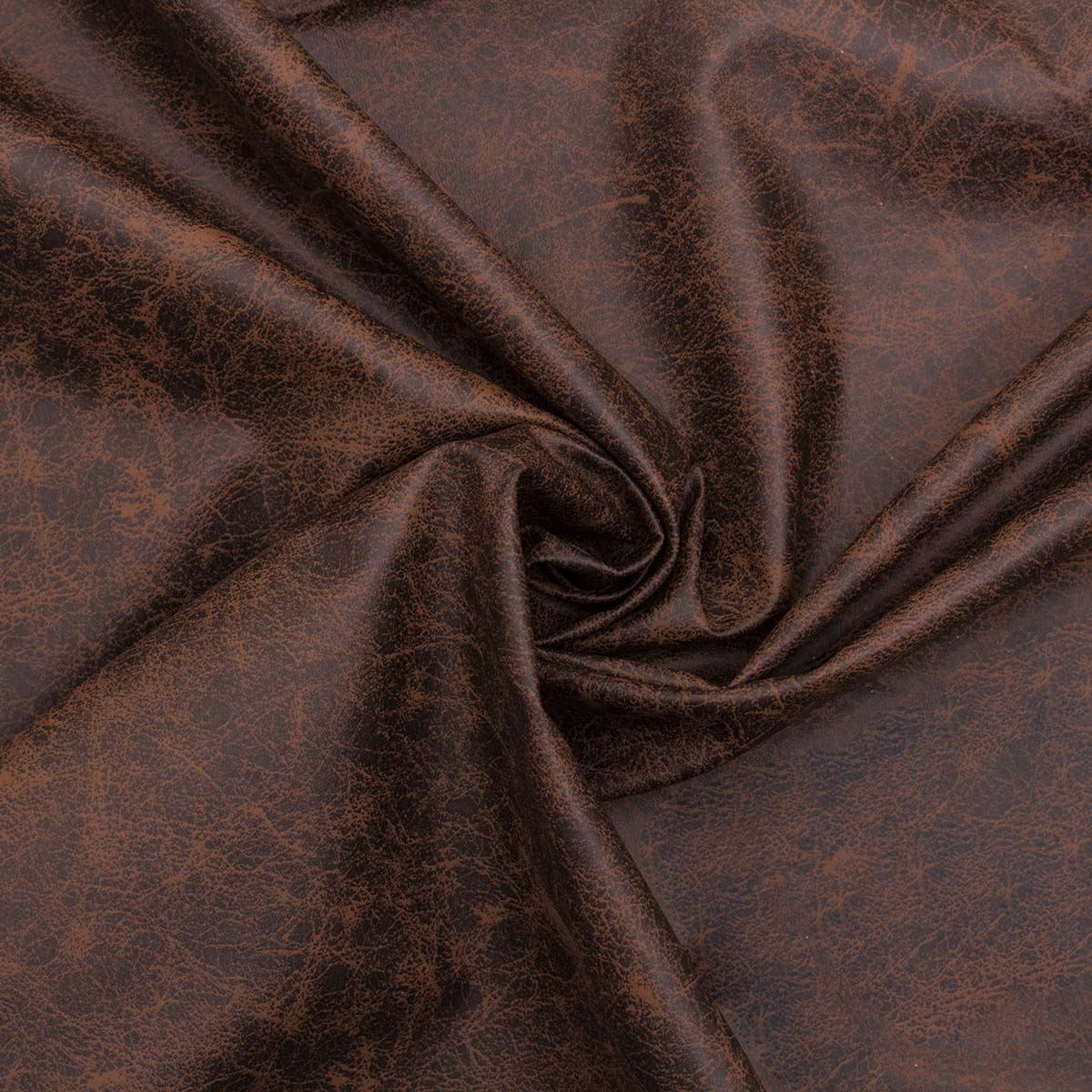 Recycled Leather Genuine Distressed Chocolate Aged Brown