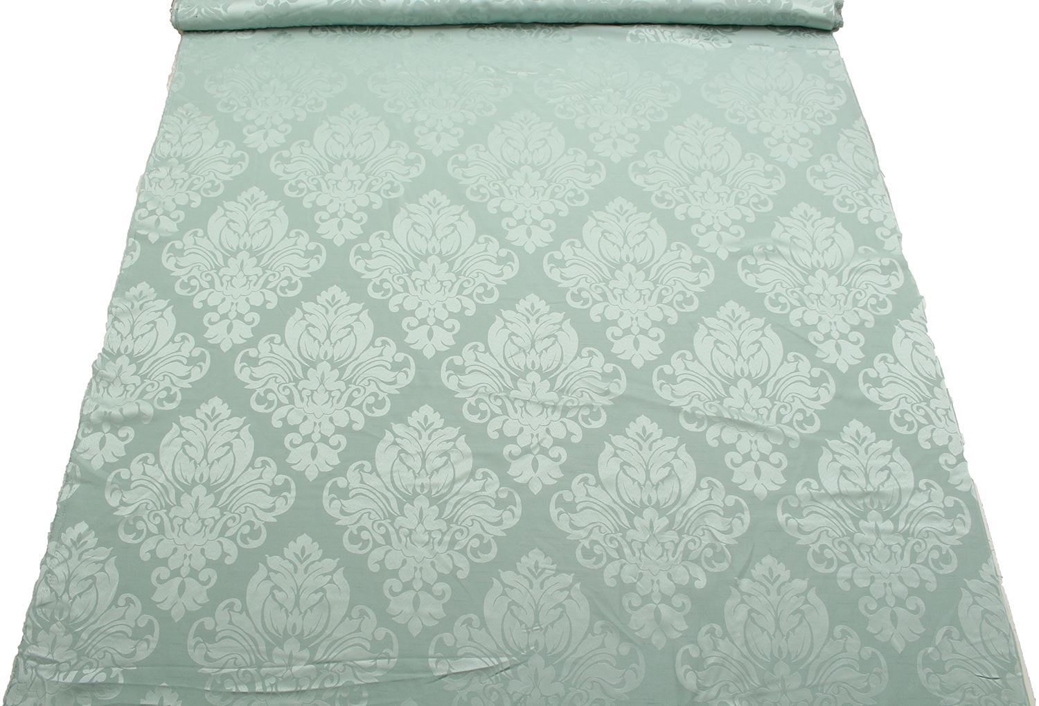 FLORAL-DAMASK-FAUX-SILK-JACQUARD-CURTAIN-UPHOLSTERY-FABRIC-MATERIAL-12-COLOURS thumbnail 13