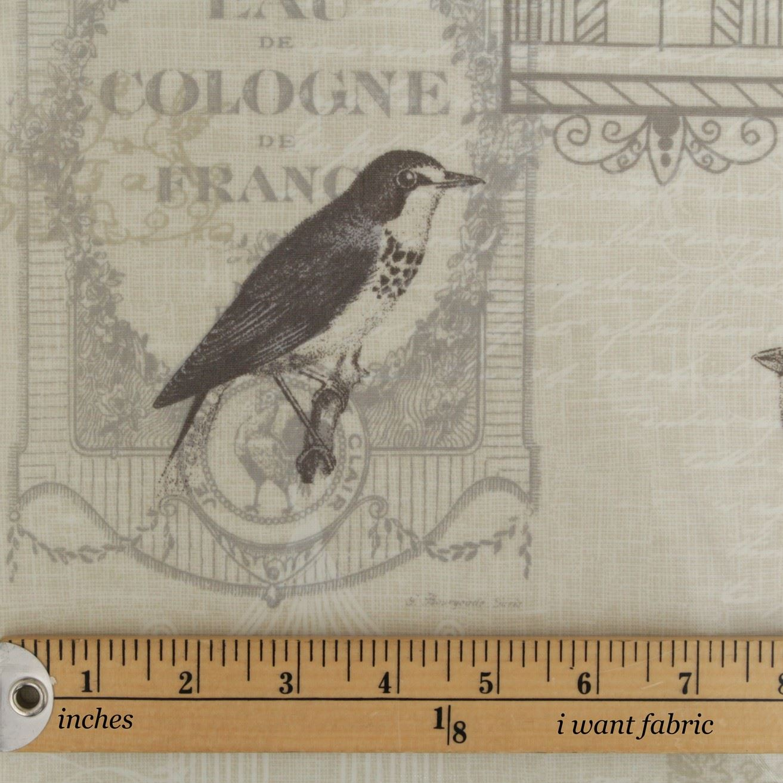 Fryetts 100 Cotton Vintage Rustic Natural Retro Printed
