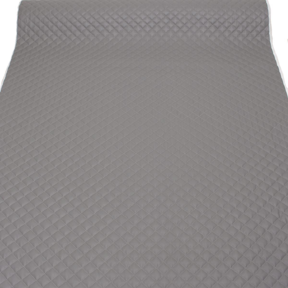thumbnail 28 - Quilted leather Diamond Padded Cushion Faux Leather Interior Upholstery Fabric
