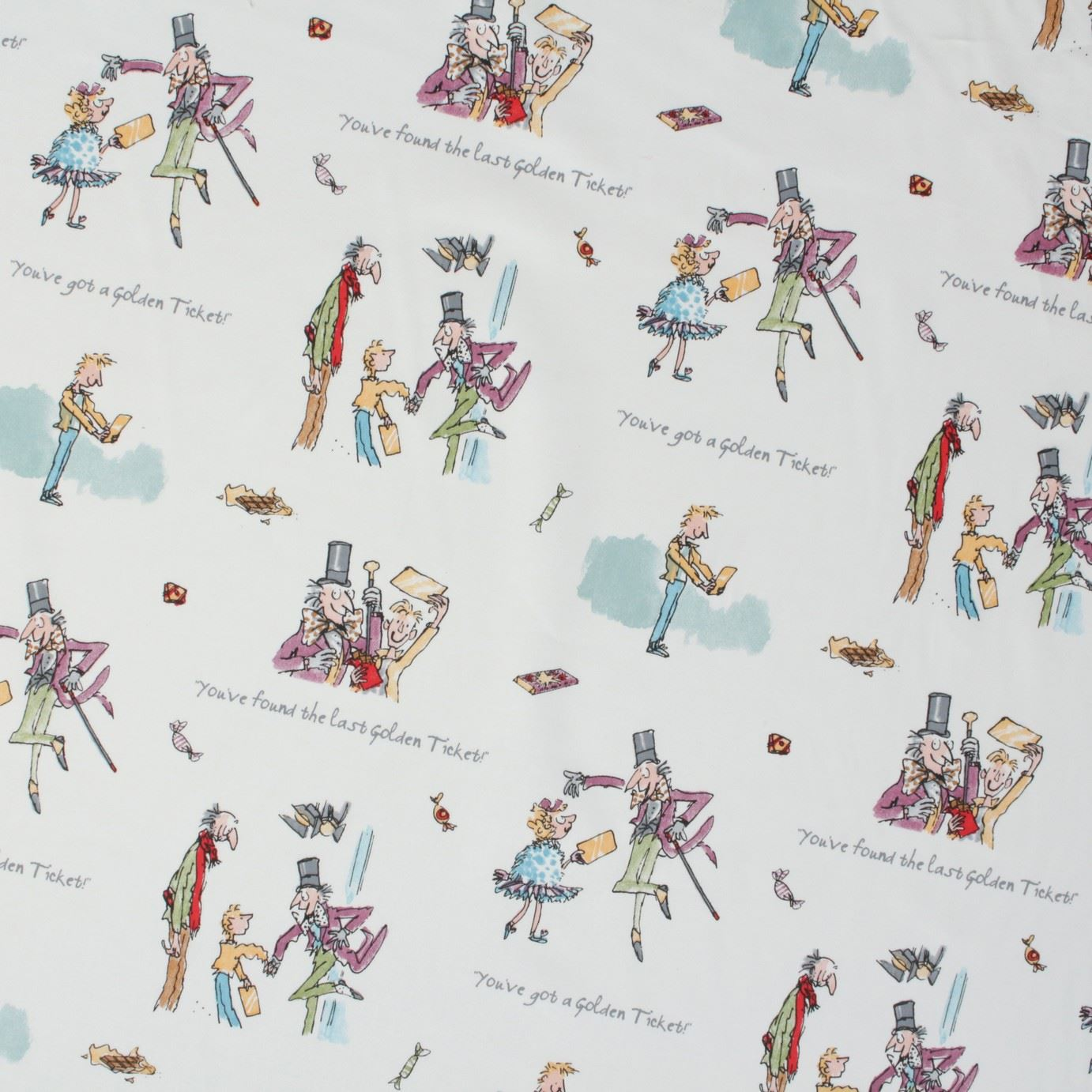 Roald dahl quentin blake art story quilting curtain craft for Unique childrens fabric