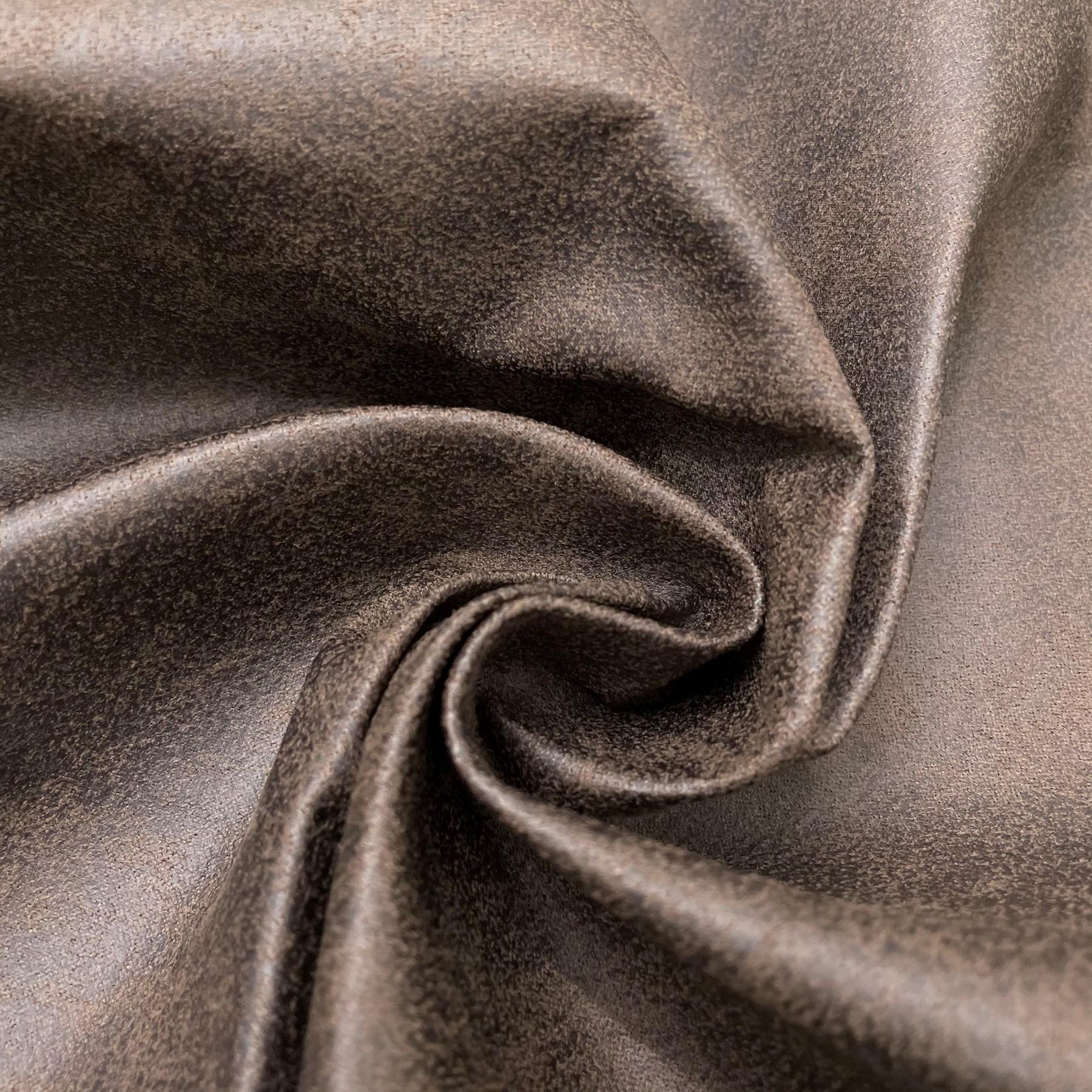 thumbnail 31 - AGED BROWN DISTRESSED ANTIQUED SUEDE FAUX LEATHER LEATHERETTE UPHOLSTERY FABRIC