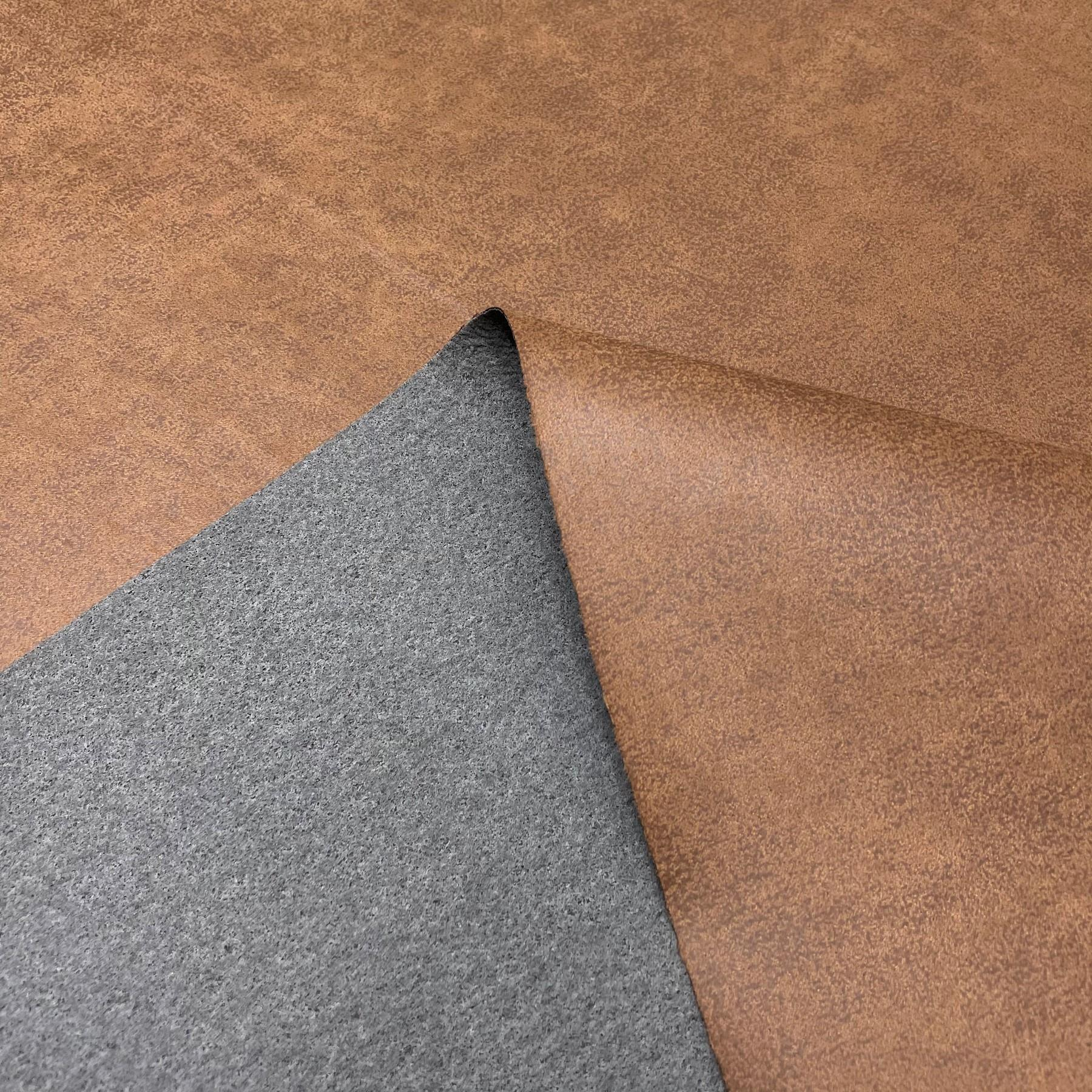 thumbnail 44 - AGED BROWN DISTRESSED ANTIQUED SUEDE FAUX LEATHER LEATHERETTE UPHOLSTERY FABRIC
