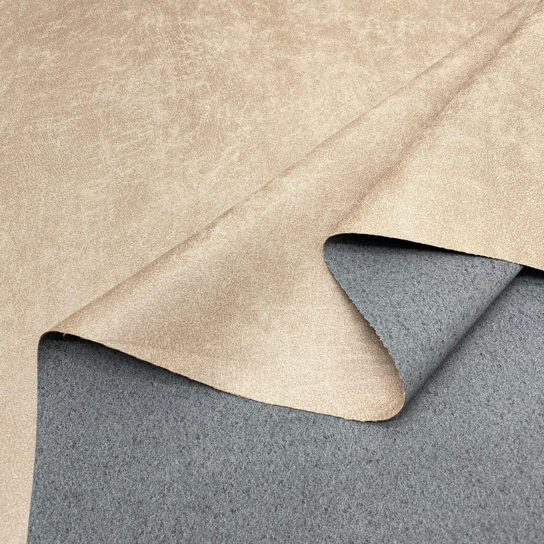 thumbnail 6 - AGED BROWN DISTRESSED ANTIQUED SUEDE FAUX LEATHER LEATHERETTE UPHOLSTERY FABRIC