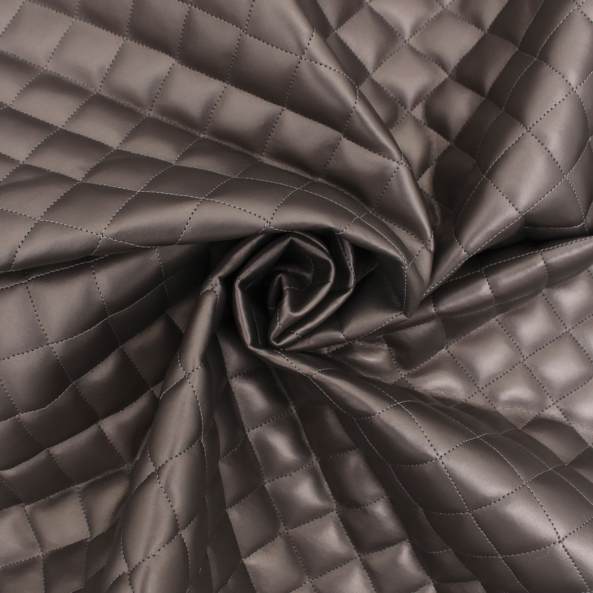 thumbnail 31 - Quilted leather Diamond Padded Cushion Faux Leather Interior Upholstery Fabric