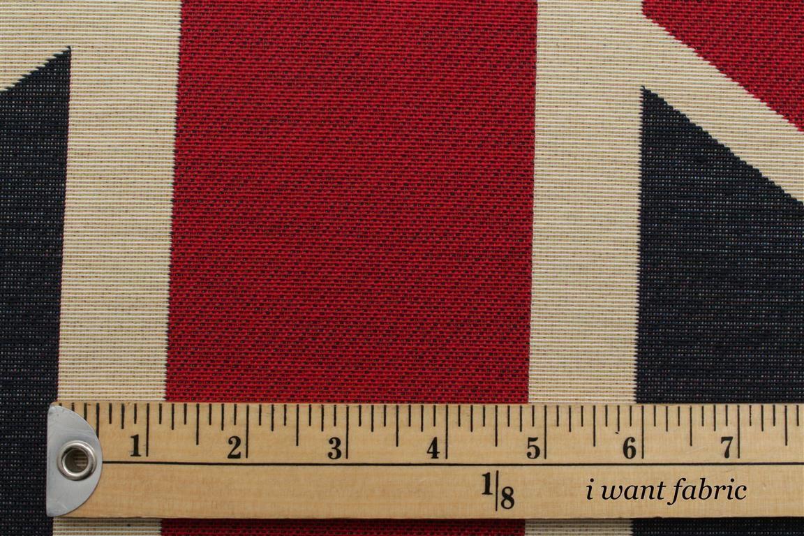 Union Jack Flag Retro Heavy Linen Look Upholstery Cotton Cushion