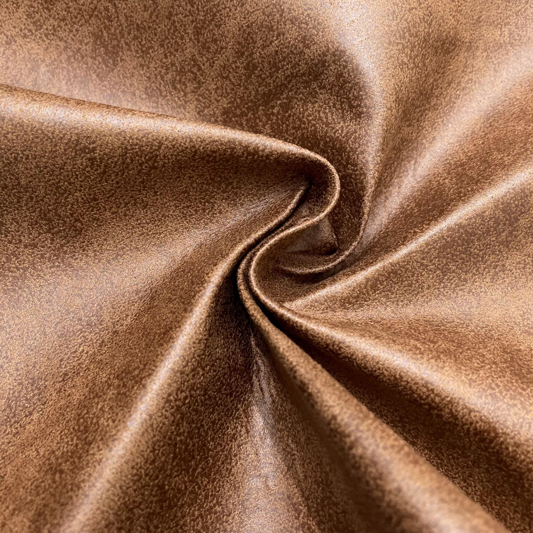 thumbnail 48 - AGED BROWN DISTRESSED ANTIQUED SUEDE FAUX LEATHER LEATHERETTE UPHOLSTERY FABRIC