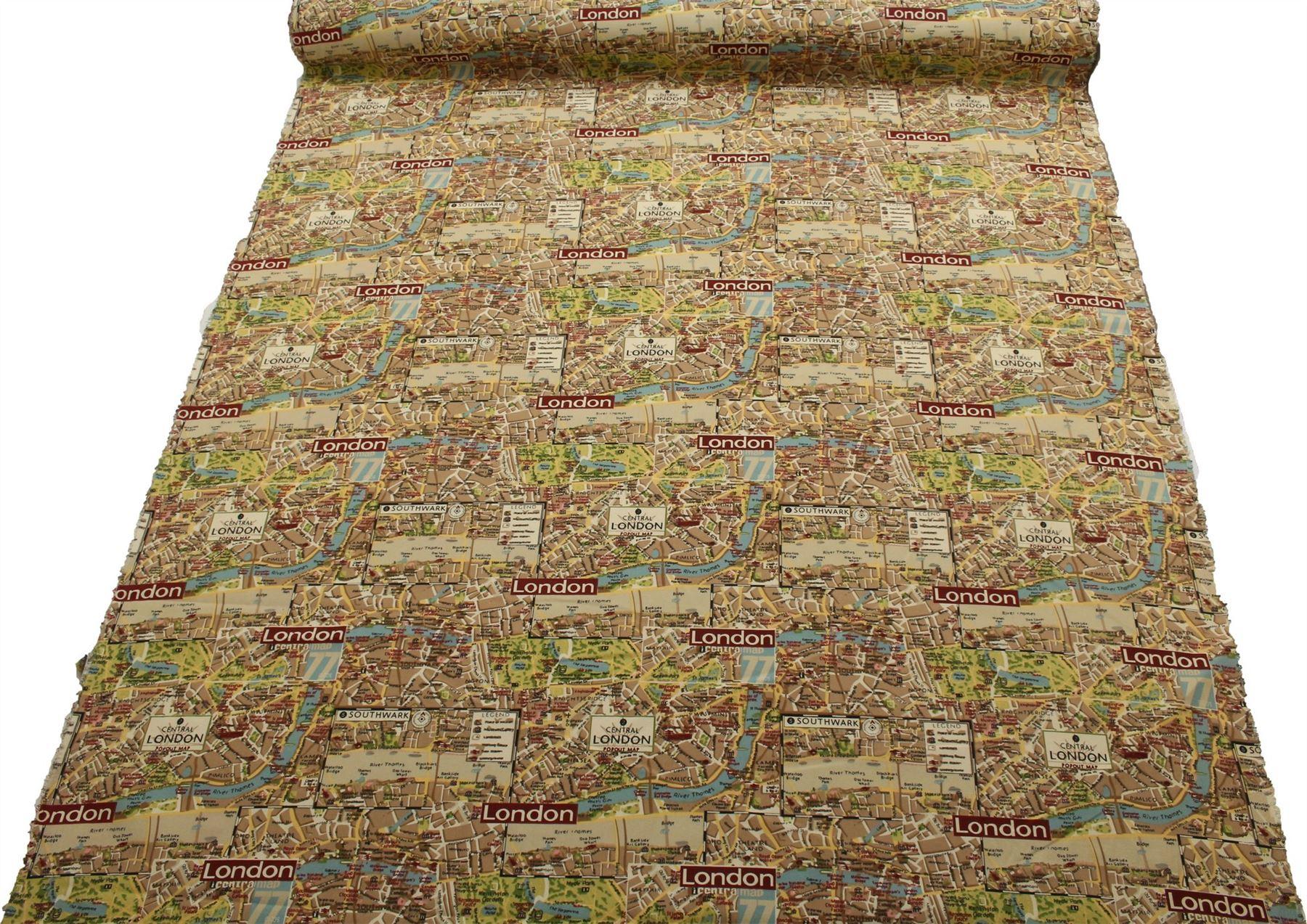 thumbnail 74 - 100% Heavy Cotton Panama Printed Childrens Curtain Cushion Upholstery Fabric