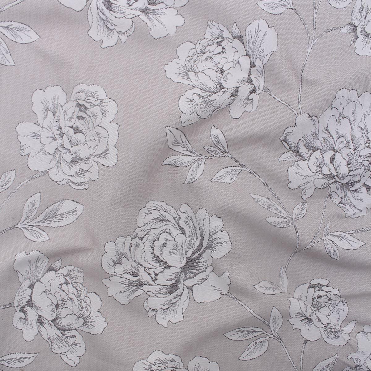 Porter floral rose dessin lin naturel élégant Rideau Ameublement Tissu