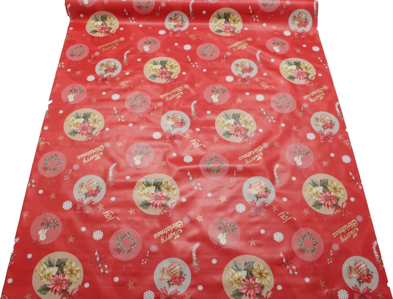 thumbnail 3 - CHRISTMAS PVC OILCLOTH VINYL FABRIC XMAS KITCHEN TABLE WIPECLEAN TABLECLOTHS