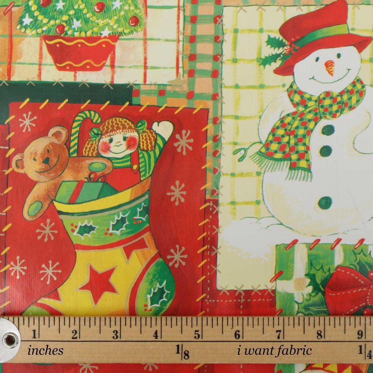 thumbnail 17 - CHRISTMAS PVC OILCLOTH VINYL FABRIC XMAS KITCHEN TABLE WIPECLEAN TABLECLOTHS