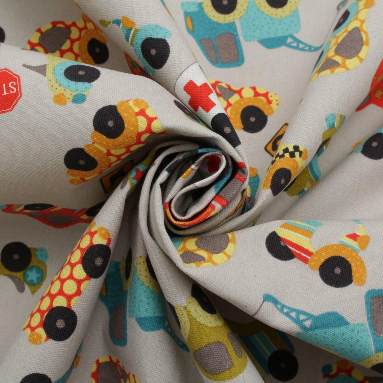 thumbnail 3 - 100% Heavy Cotton Panama Printed Childrens Curtain Cushion Upholstery Fabric