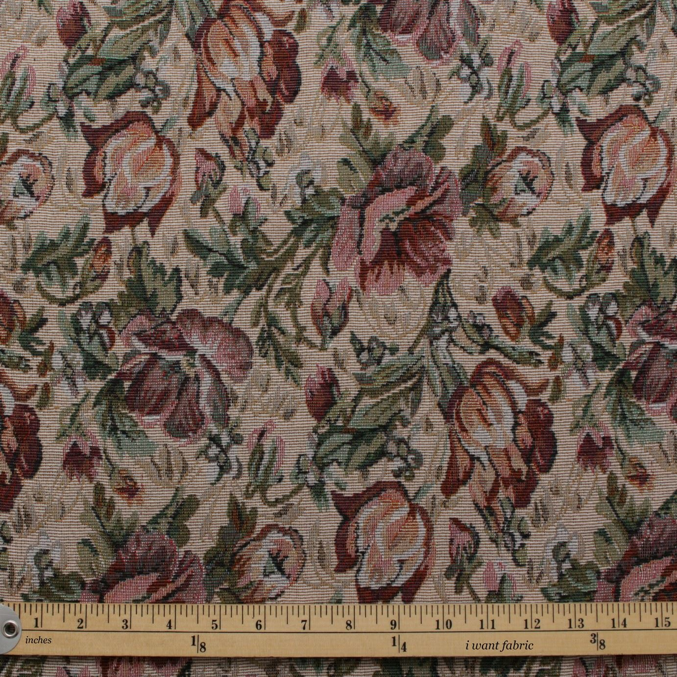 English Traditional Vintage Floral Garden Tapestry Furnishing