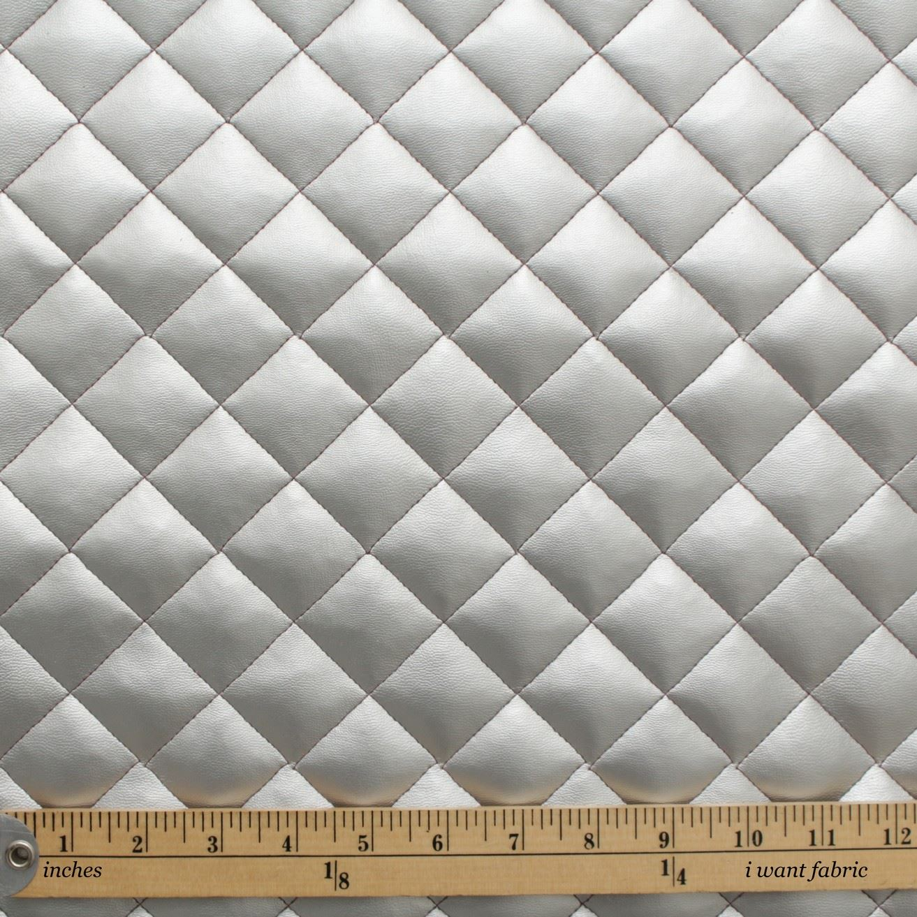 thumbnail 37 - Quilted leather Diamond Padded Cushion Faux Leather Interior Upholstery Fabric