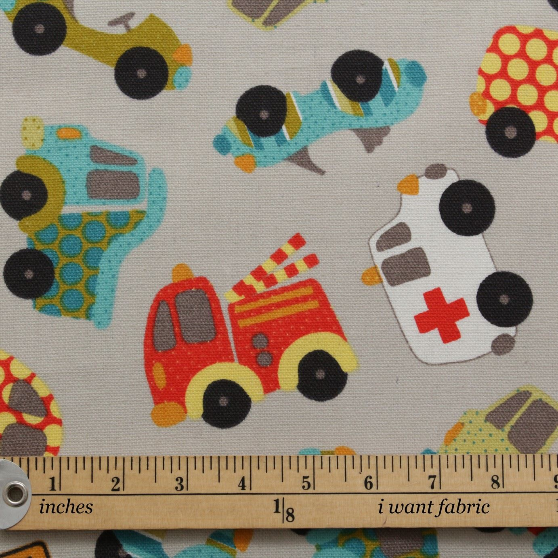 thumbnail 4 - 100% Heavy Cotton Panama Printed Childrens Curtain Cushion Upholstery Fabric