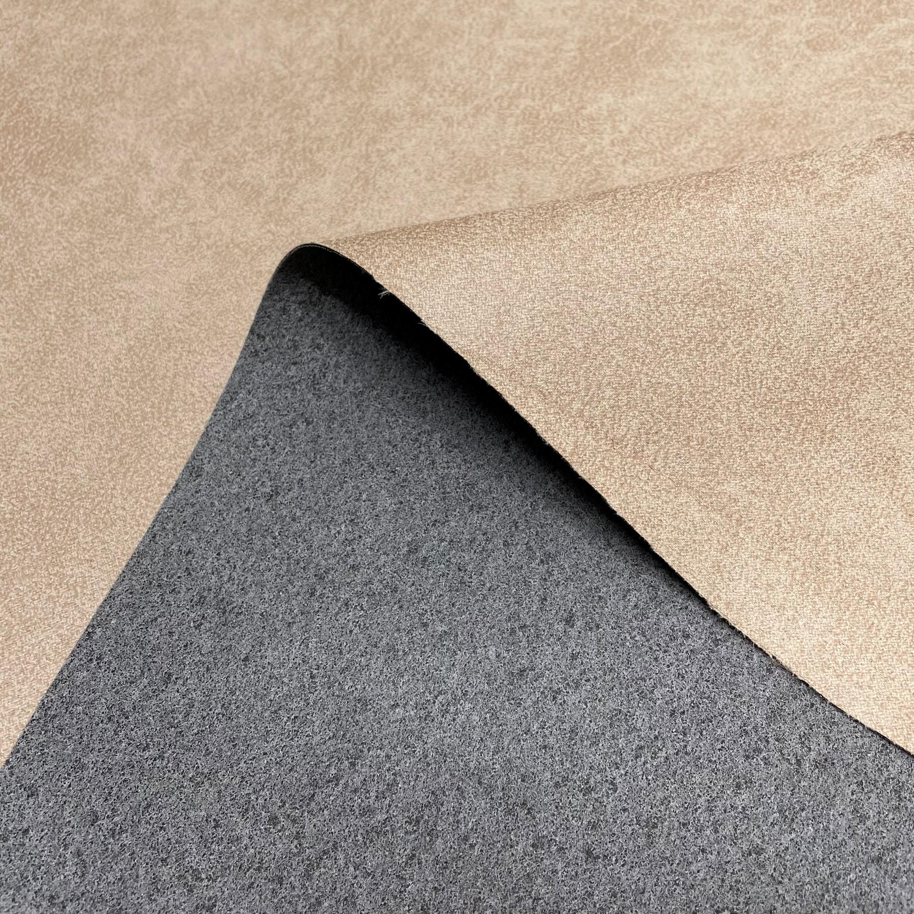 thumbnail 4 - AGED BROWN DISTRESSED ANTIQUED SUEDE FAUX LEATHER LEATHERETTE UPHOLSTERY FABRIC
