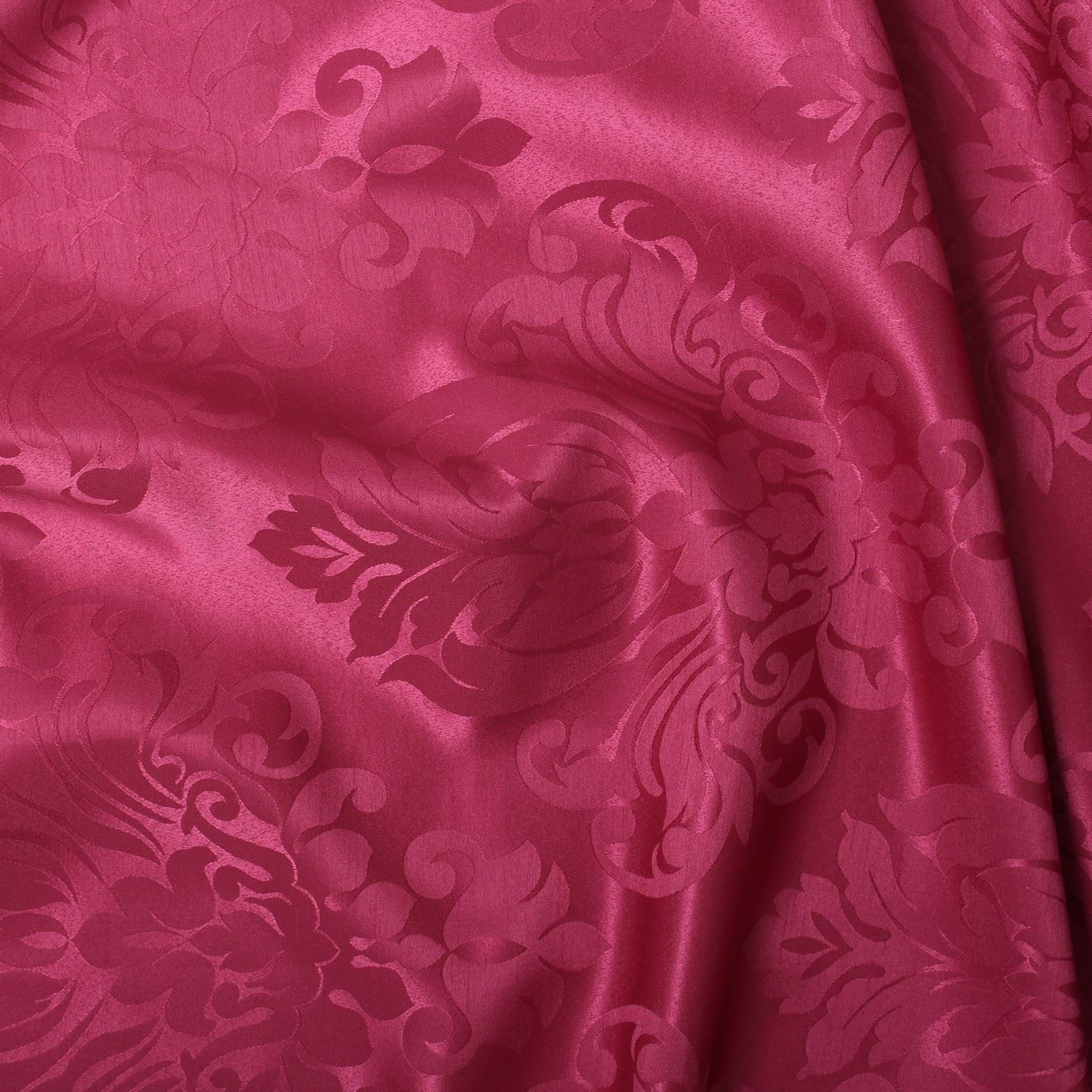 FLORAL-DAMASK-FAUX-SILK-JACQUARD-CURTAIN-UPHOLSTERY-FABRIC-MATERIAL-12-COLOURS thumbnail 32