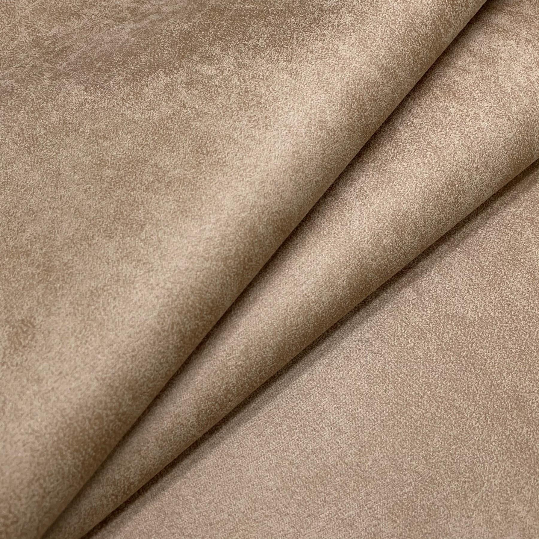 thumbnail 7 - AGED BROWN DISTRESSED ANTIQUED SUEDE FAUX LEATHER LEATHERETTE UPHOLSTERY FABRIC