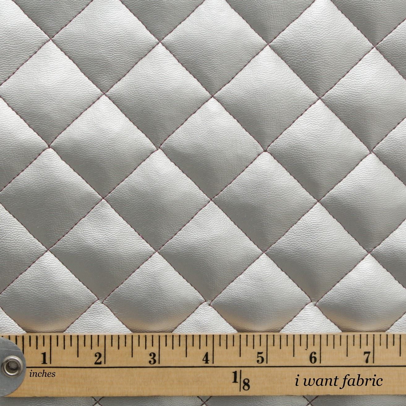 Quilted Leather Diamond Padded Cushion Faux Leather