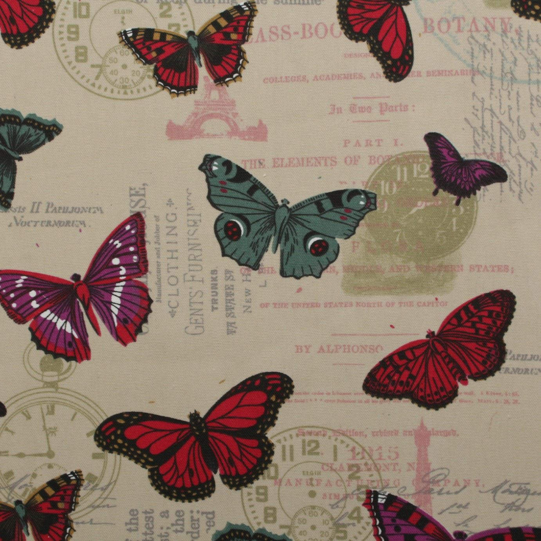thumbnail 63 - 100% Heavy Cotton Panama Printed Childrens Curtain Cushion Upholstery Fabric