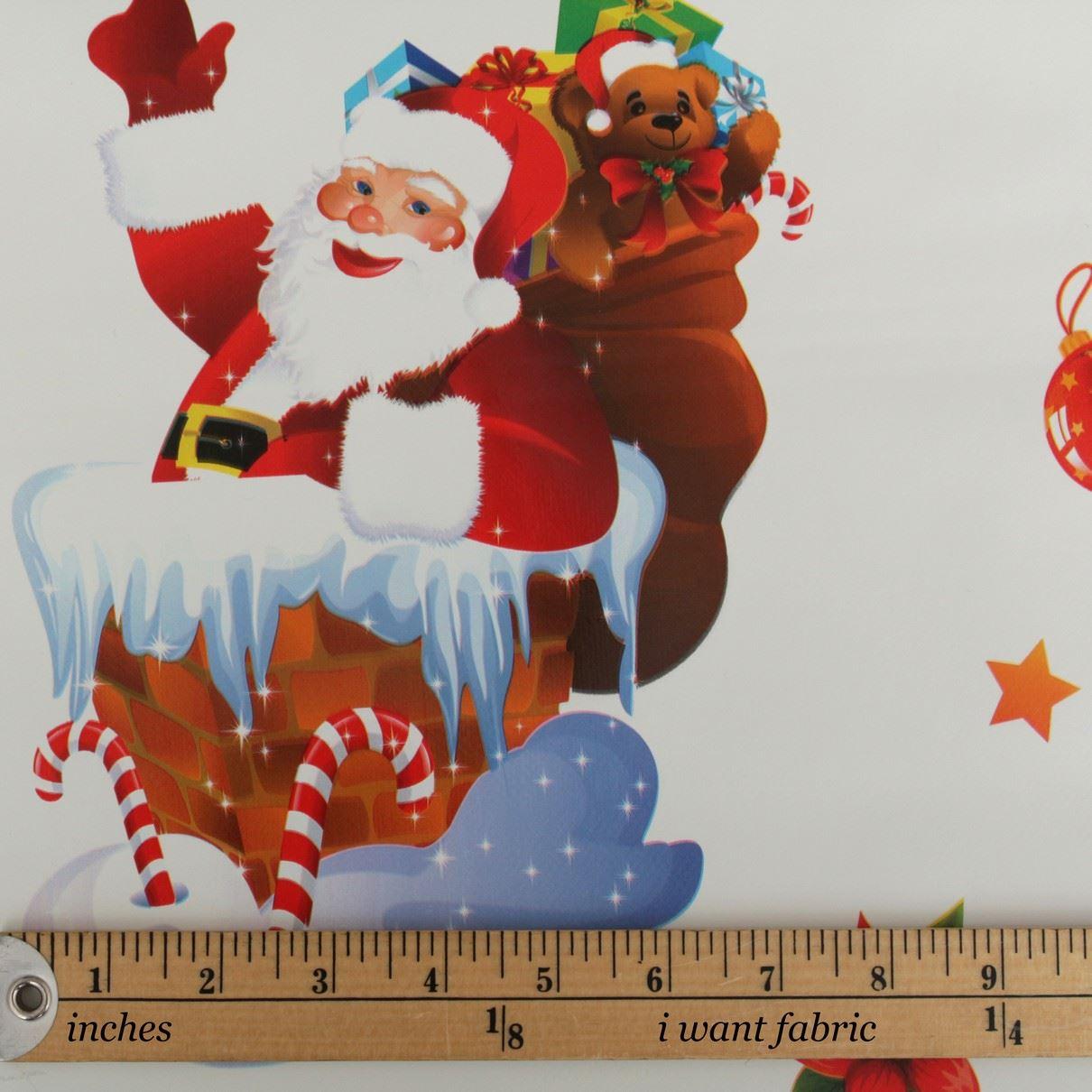 thumbnail 25 - CHRISTMAS PVC OILCLOTH VINYL FABRIC XMAS KITCHEN TABLE WIPECLEAN TABLECLOTHS