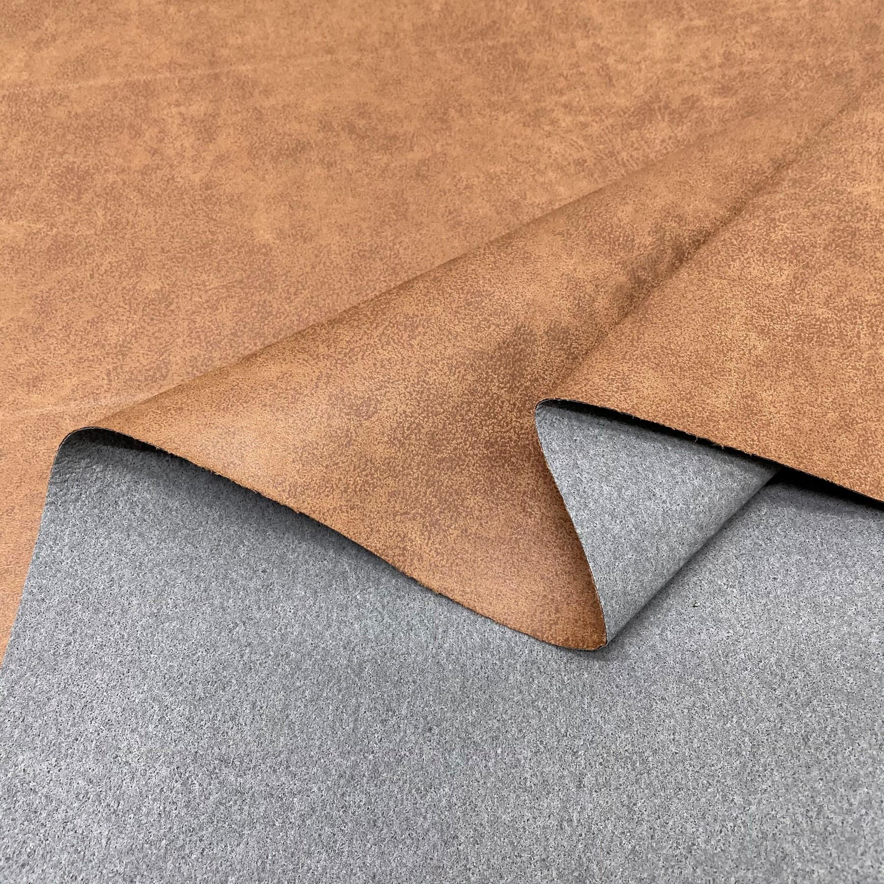 thumbnail 46 - AGED BROWN DISTRESSED ANTIQUED SUEDE FAUX LEATHER LEATHERETTE UPHOLSTERY FABRIC
