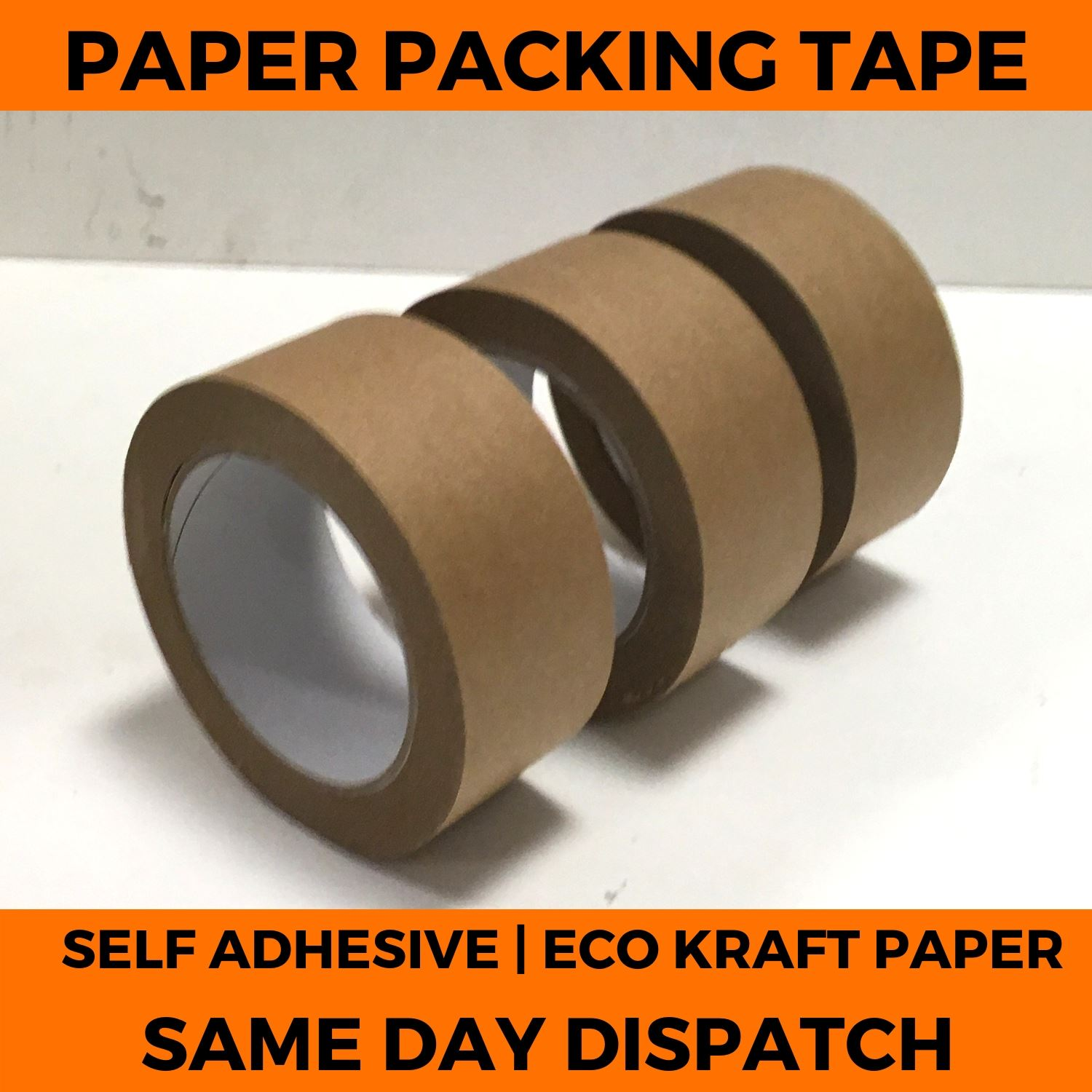 Brown Kraft Paper Tape Self Adhesive Strong Eco