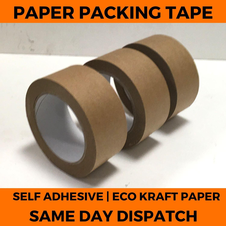 Brown Kraft Paper Tape Self Adhesive Strong Eco