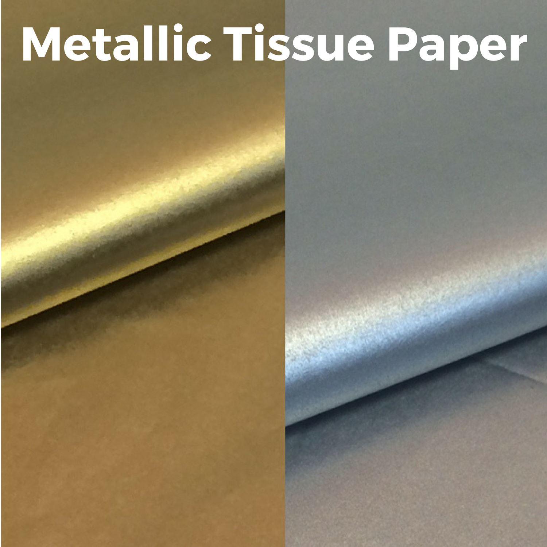 Metallic Gold Tissue Printed Paper 20 x 30 500 x 750mm 18gsm 1