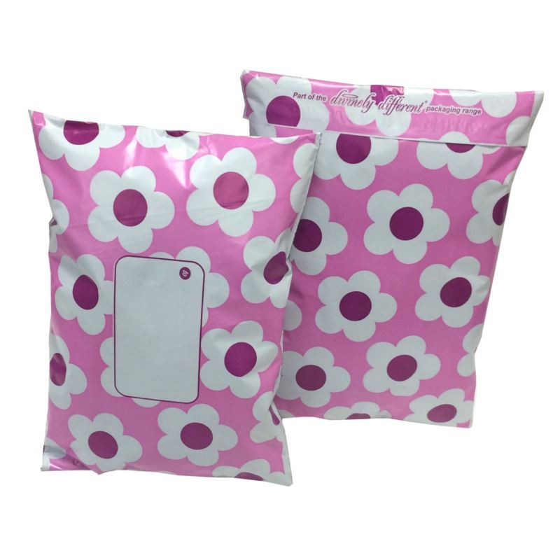 PINK-Postal-Mailing-Bags-Postage-Coloured-Plastic-Packaging-Polka-Dot-Floral thumbnail 7