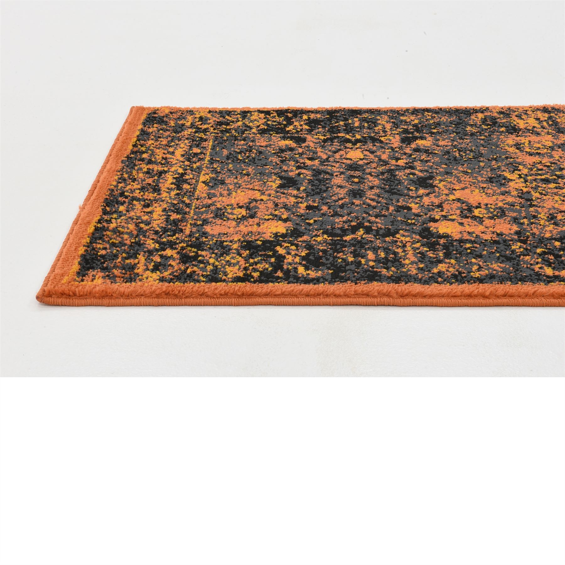Transitional Terracotta Faded Large Rug Modern Small