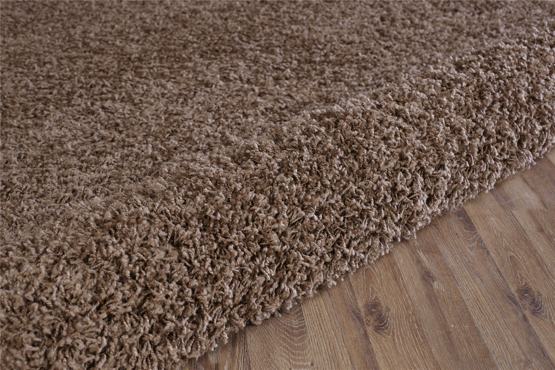 Retro Modern Light Brown Shaggy Rug Warm Soft Fluffy