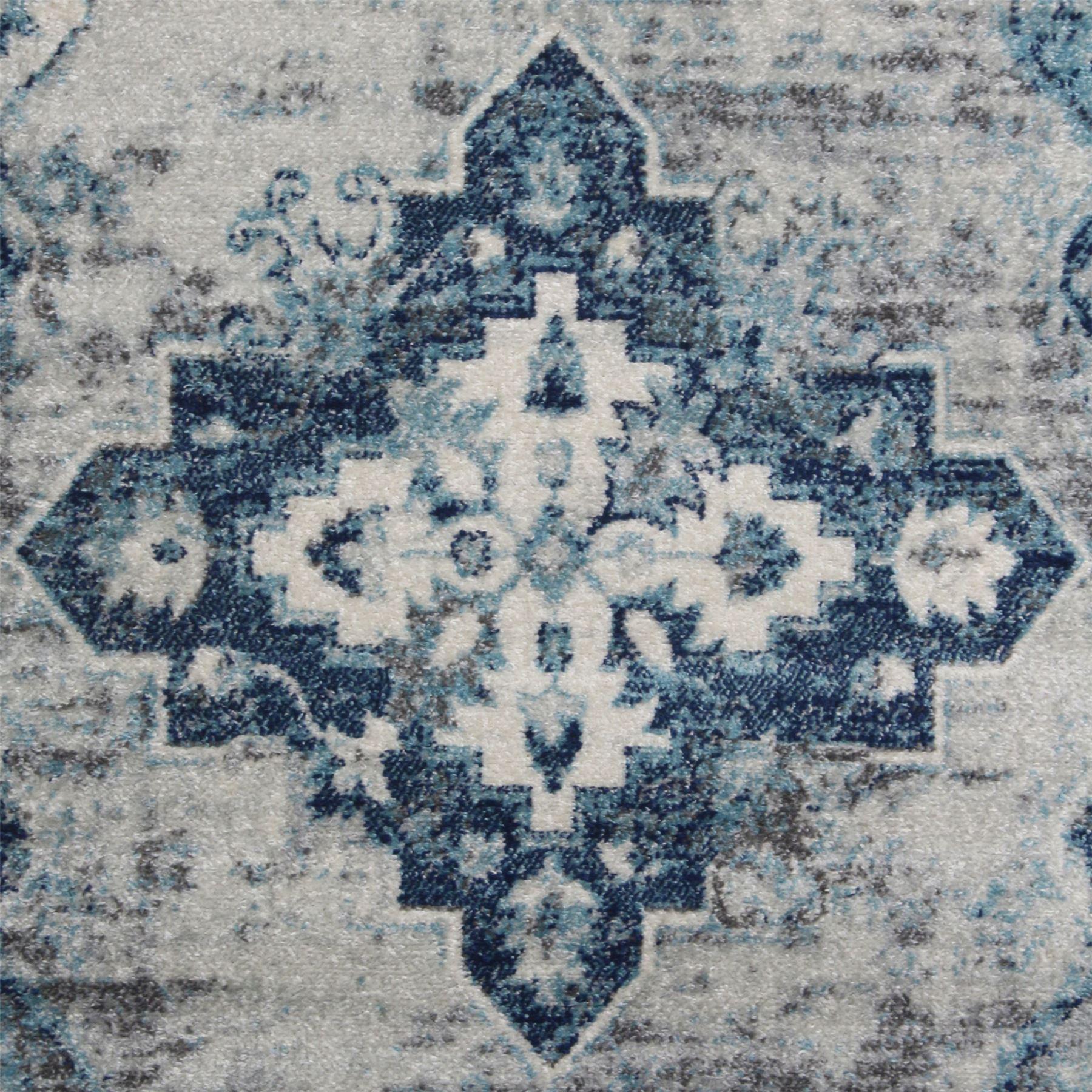 A2Z-Grigio-Grande-Avorio-TAPPETI-Tradizionale-Persiano-Design-Vintage-Casa-Pavimento-Tappeti miniatura 8