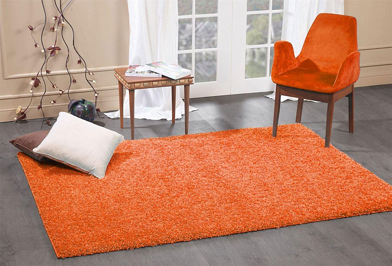 Grandes Tailles tapis gris orange noir marron Shaggy Rugs 5 cm Pile Chambre  Tapis Tapis | eBay
