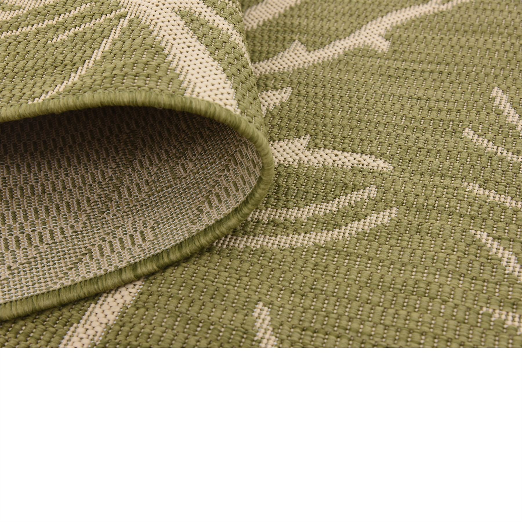 Fringeless Modern Thin Hard Outdoor Indoor Area Rug