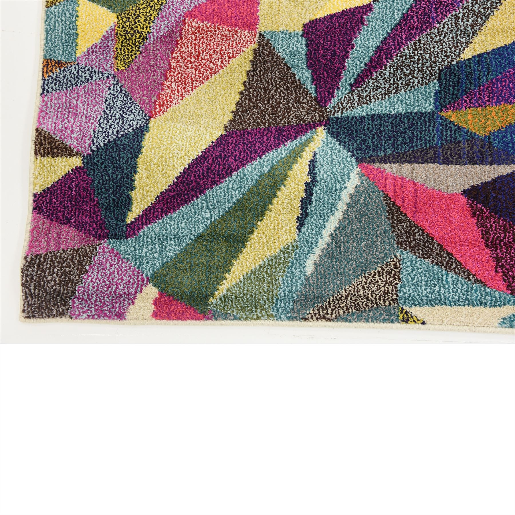 Multi Color Modern Design Area Rug Contemporary Style
