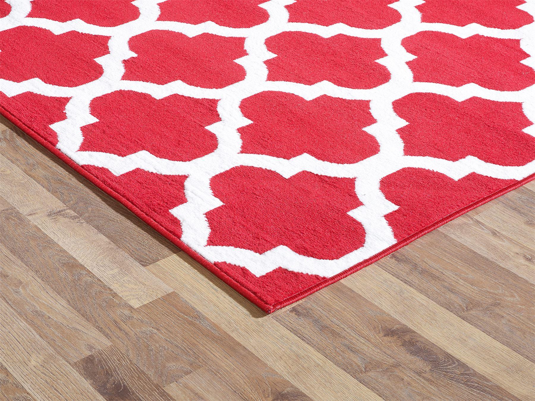 Nero-Rosso-Argento-Bianco-Viola-Moderno-Area-Tappeto-Traliccio-DESIGN-CUCINA-outdoorrug miniatura 18