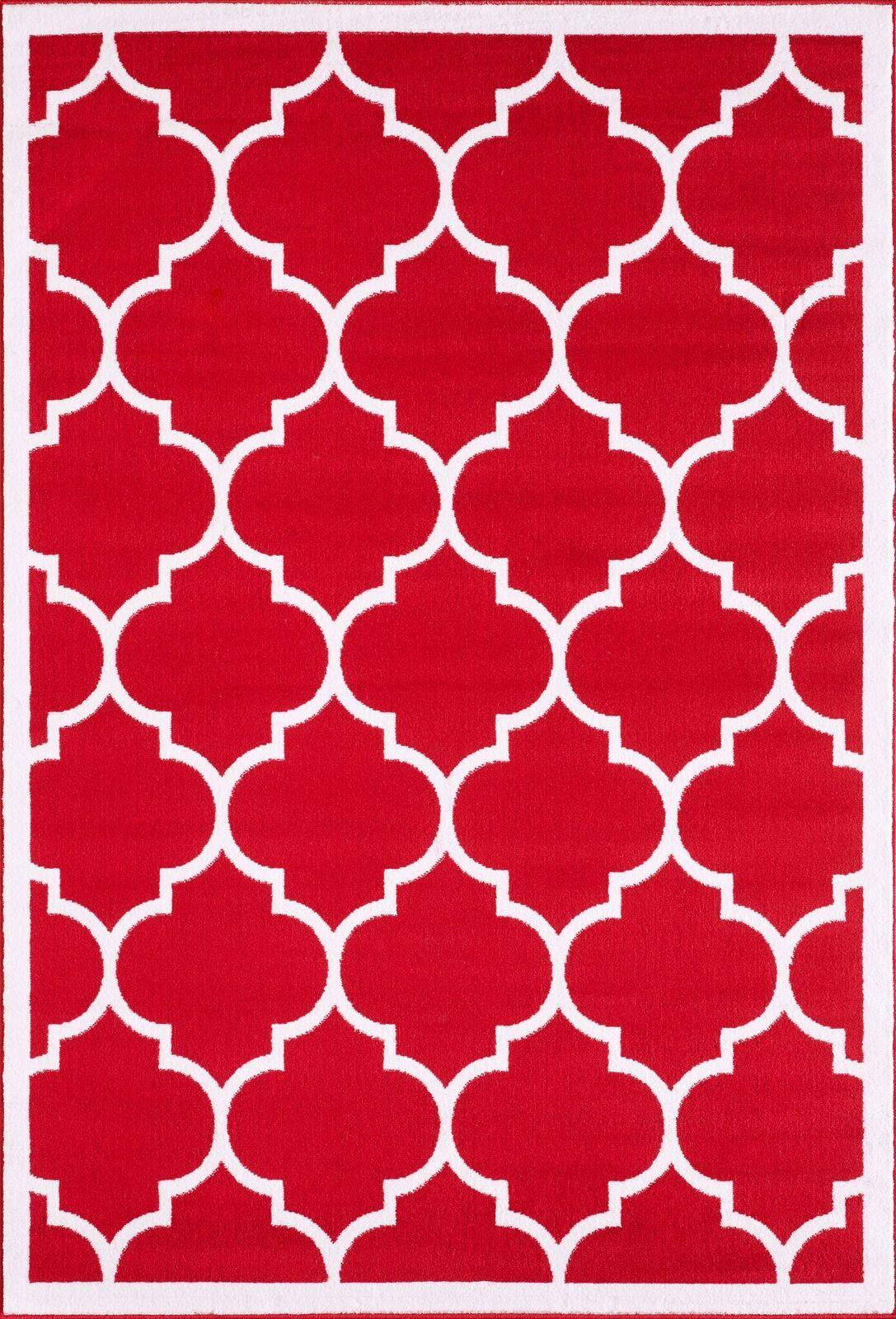 Large-Moderne-Geometrique-Treillis-Mince-Tapis-contemporain-doux-Zone-Tapis