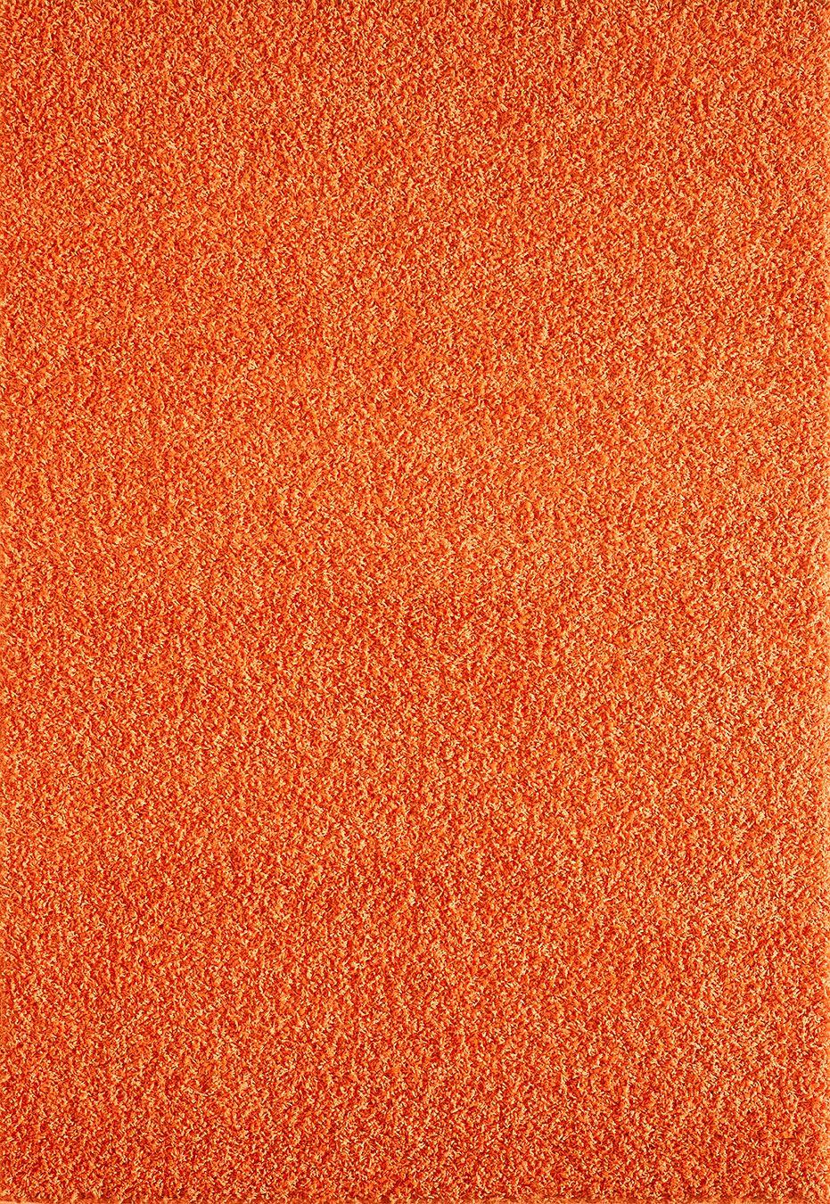 Orange Area Rug Shaggy Warm Soft Carpet Fluffy