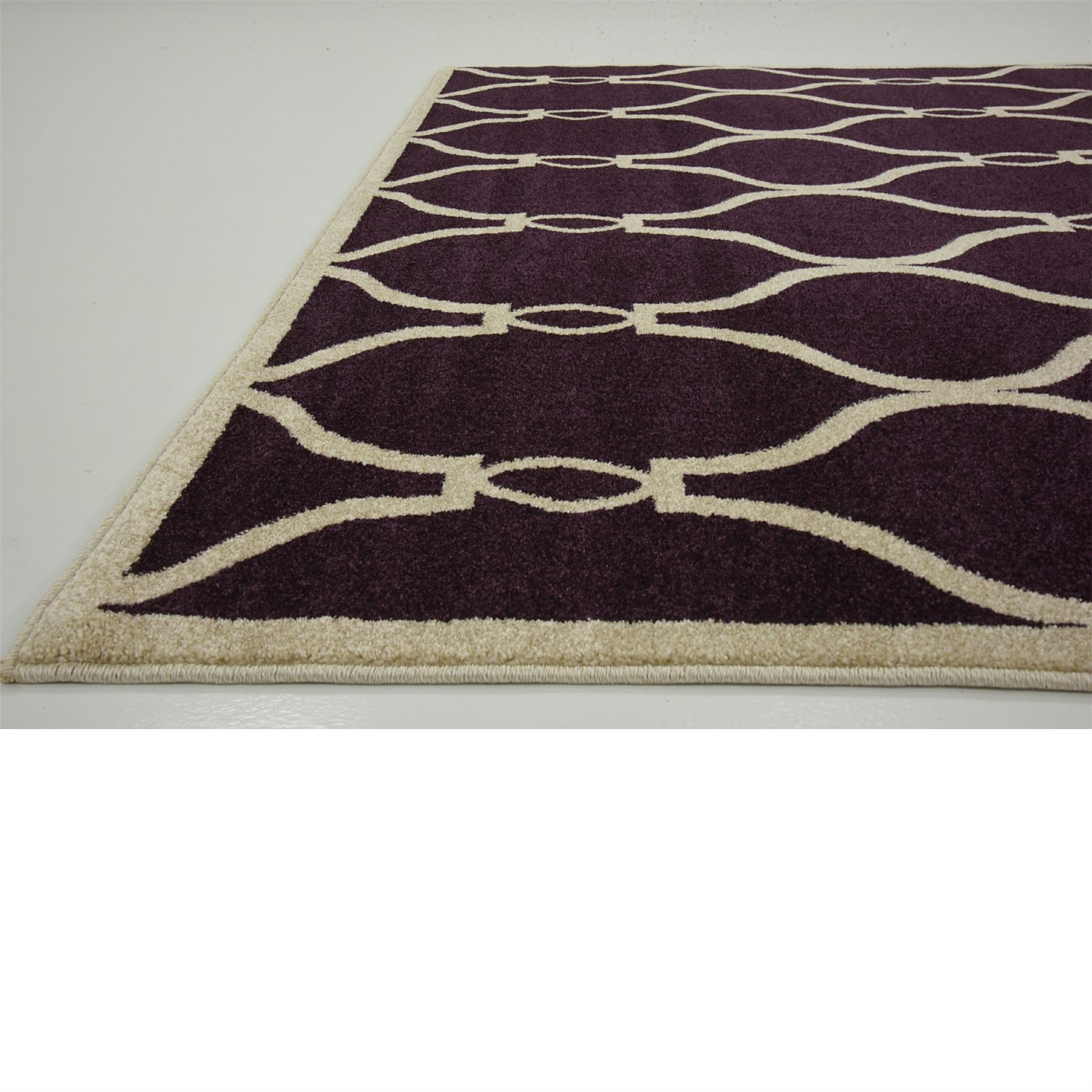 Modern trellis moroccan style area rug contemporary design for Modern design area rugs