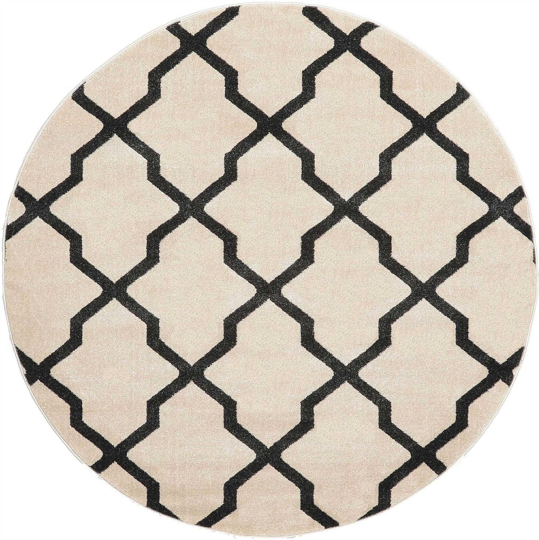 Trellis Moroccan Geometric Design Area Rug Modern